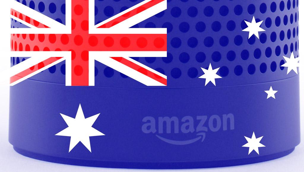 Amazon Echo with Australia Flag