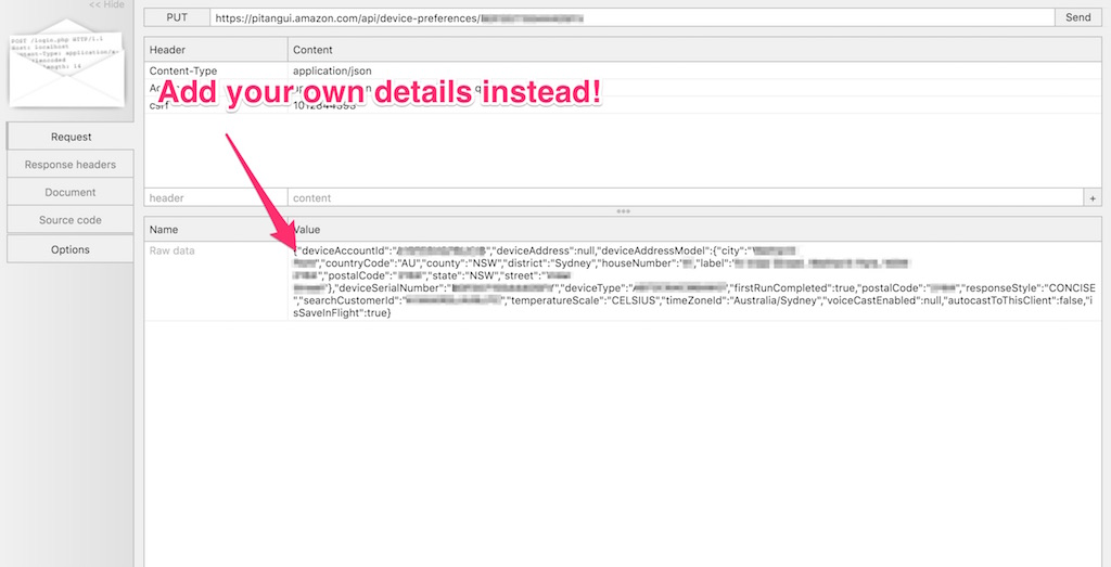Updating JSON to have your own details
