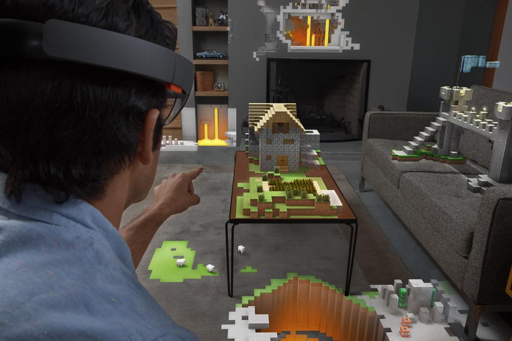 Amazing fully immersed Minecraft AR goodness! (Credit: Microsoft)