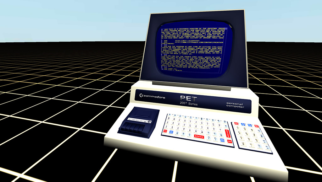 A Commodore PET in Primrose VR