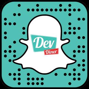 The DevDiner Snapcode (Username: devdiner)