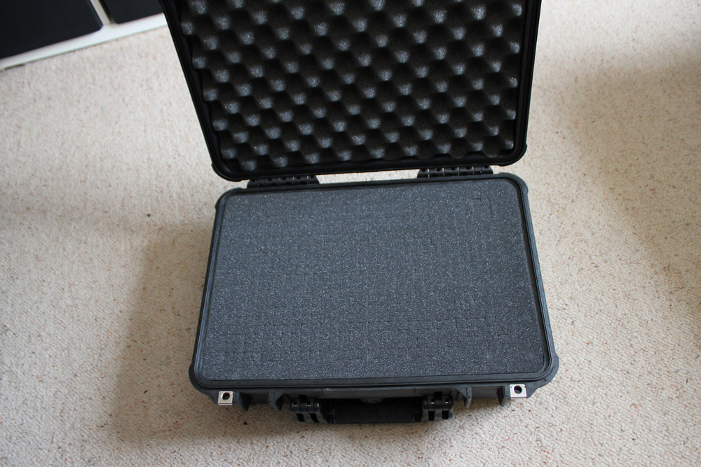 Our open case with padded lid