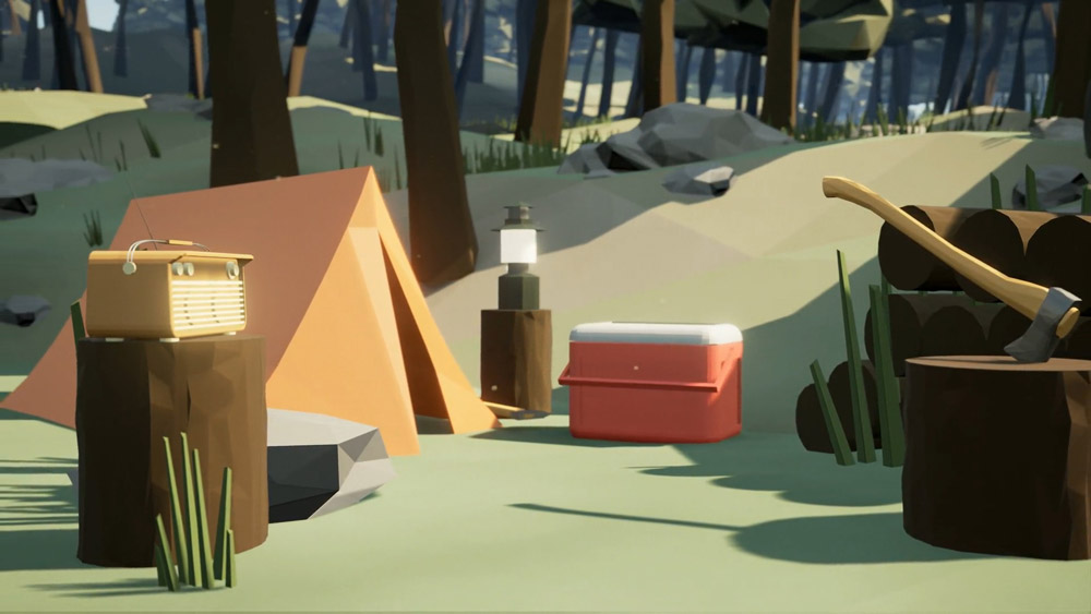 A campsite in the game