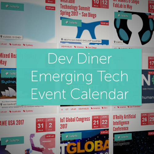 Dev Diner Emerging Tech Event Calendar