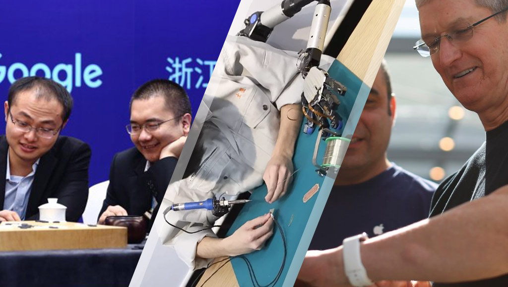 The AlphaGo match, Doctor Octopus-style robot arms and Tim Cook wearing a glucose monitor