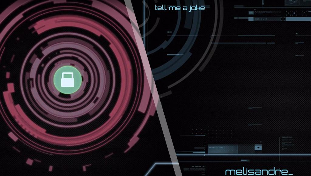 Two screenshots of Melissa's UI