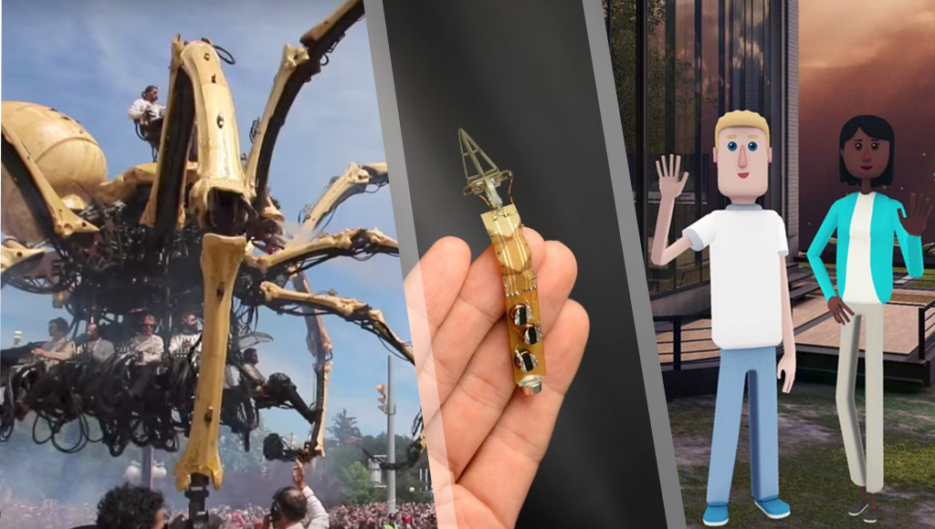 A giant robot spider, origami-inspired self-folding robot and a sad farewell to AltspaceVR