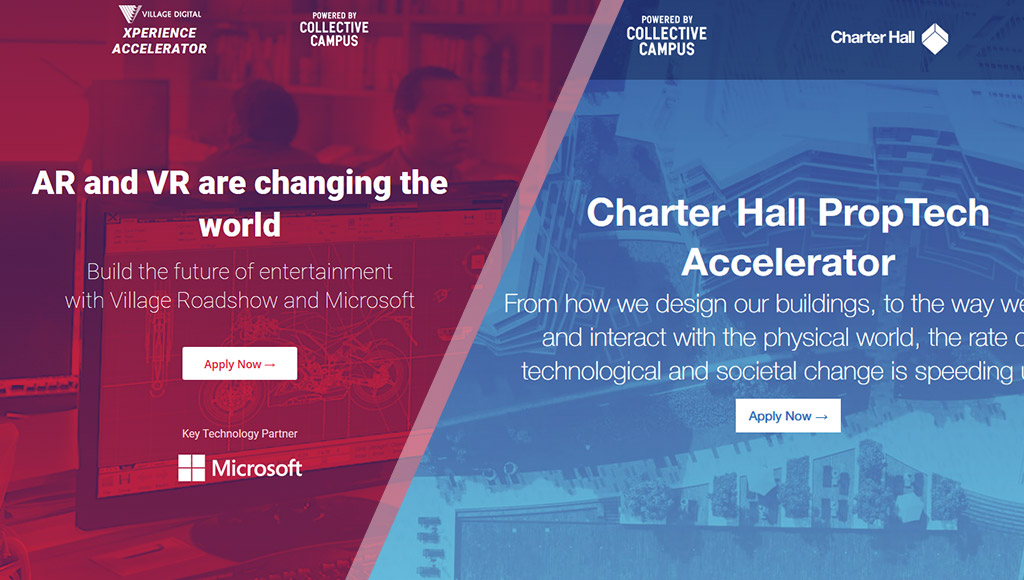 Collective Campus accelerator homepages