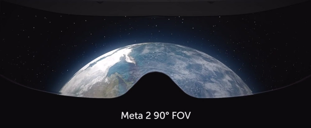 The field of view from the Meta 2