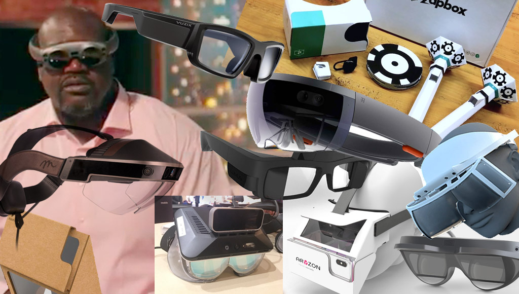 A range of AR headsets in this article