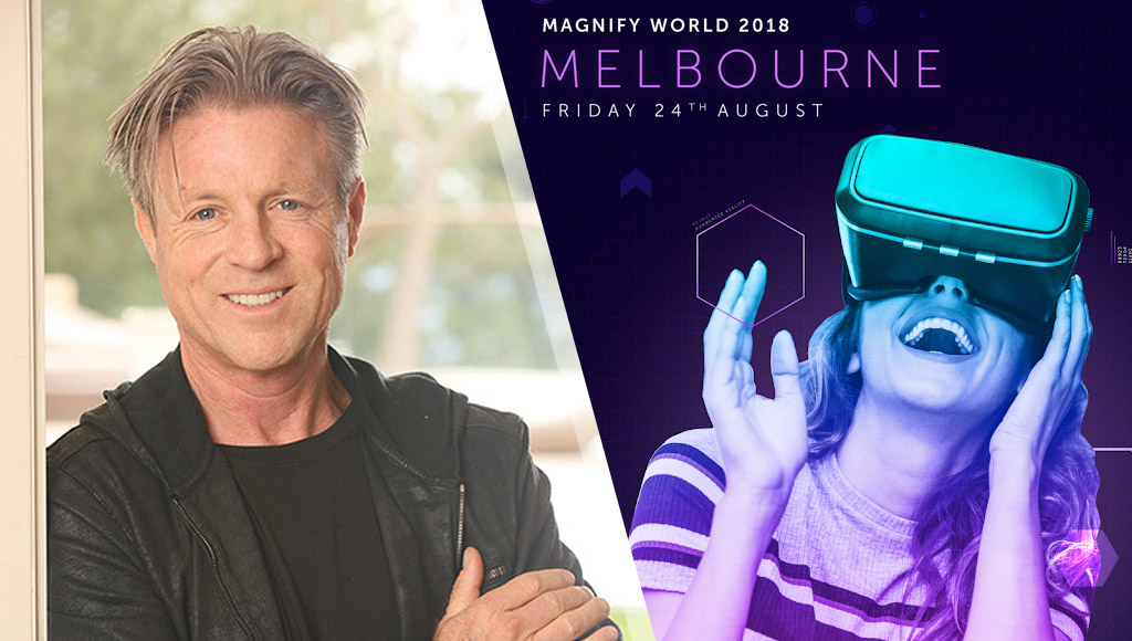Pat hull and details on Magnify World Melbourne Friday 24th August