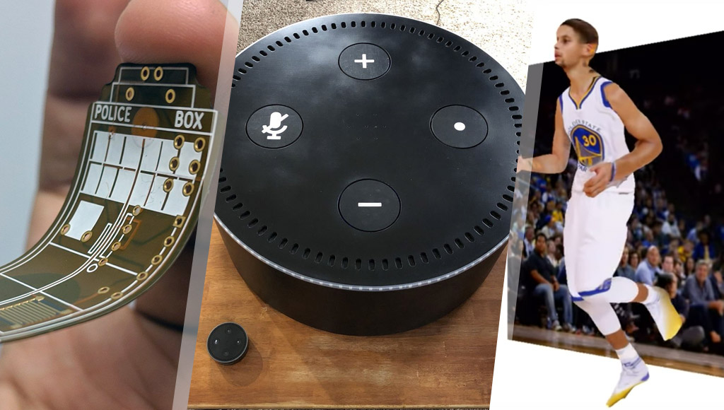 Flexible PCBs, a MegaDot speaker for your Echo Dot and a way to turn 2D images into 3D