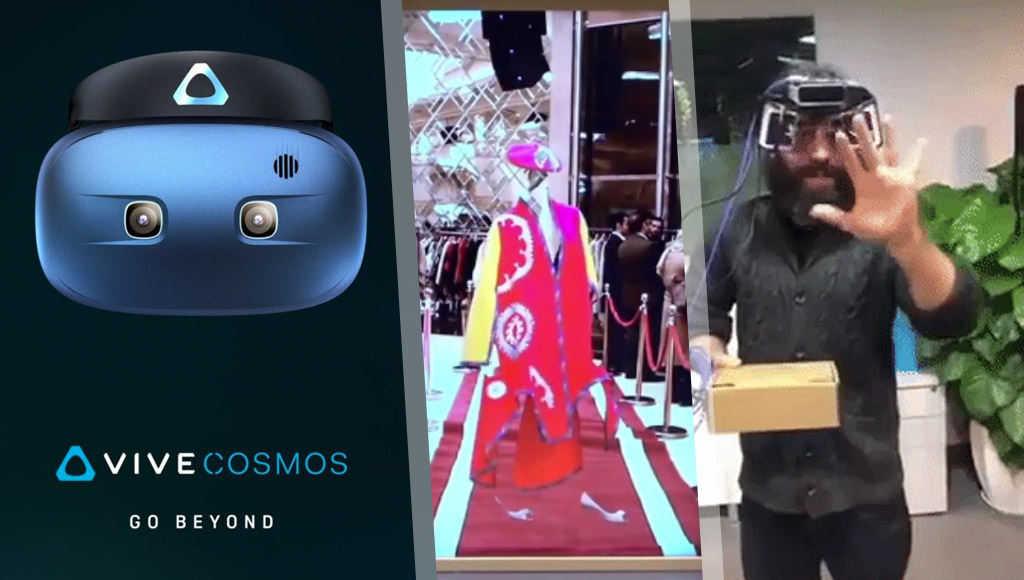 HTC's new Vive Cosmos headset, invisible AR models and a portable Leap Motion AR headset