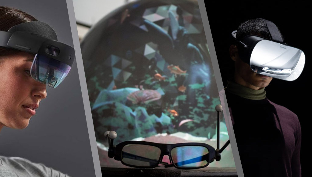 The new HoloLens 2, a spherical VR display and theVarjo VR-1