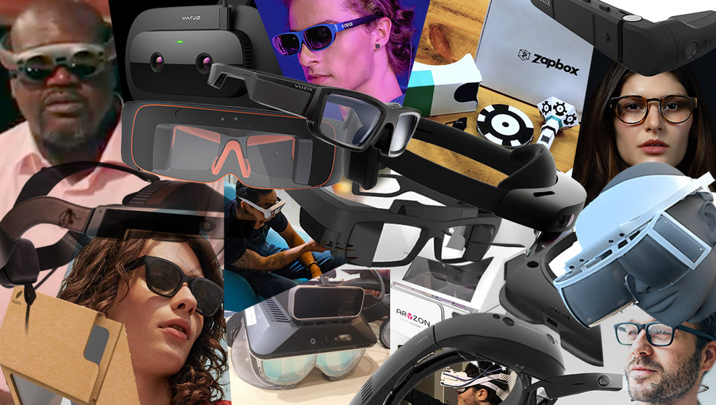 A collage of the headsets mentioned in the article below