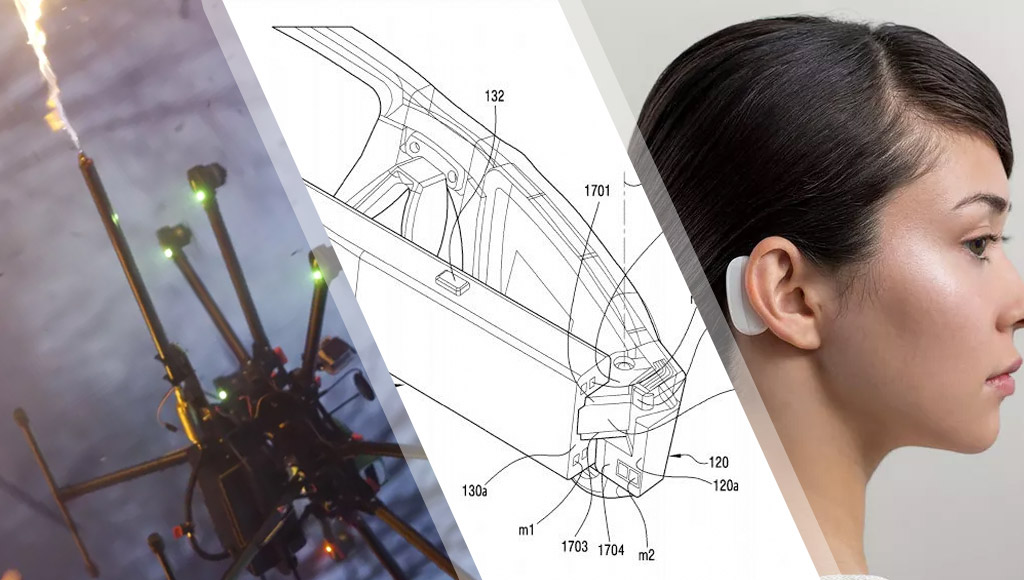 Flame-throwing drones, foldable Samsung AR glasses and Neuralink's behind-the-ear tech