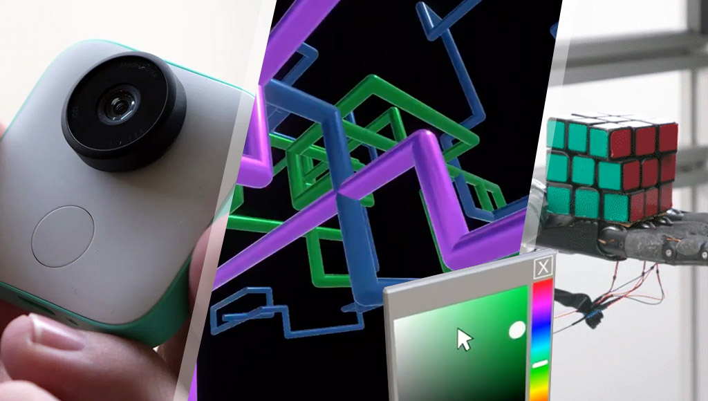 Google Clips, PC Screensavers in VR and a robot solving a Rubik's cube